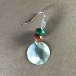 Silver and agate earrings